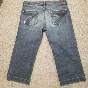 7 for all mankind DOJO Capri pants Sz 30